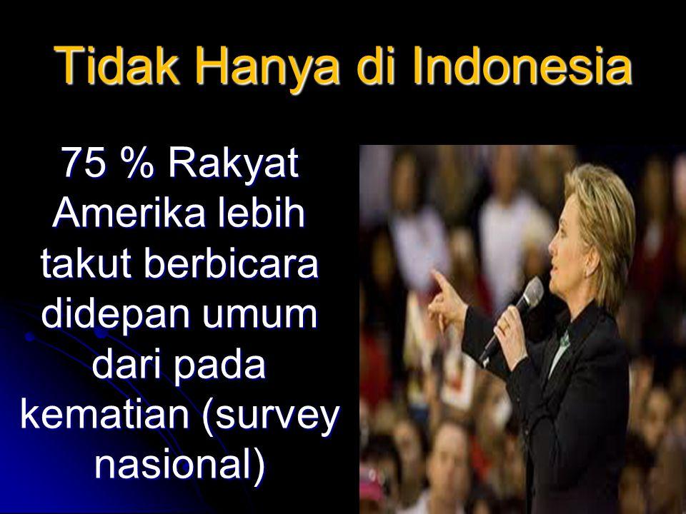 Tidak Hanya di Indonesia 75 % Rakyat Amerika lebih takut berbicara didepan umum dari pada kematian (survey nasional)