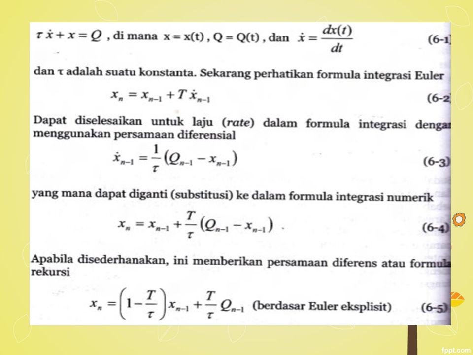 Ada dua keuntungan dalam menggunakan formula rekursi untuk menyelesaikan persamaan diferensial.