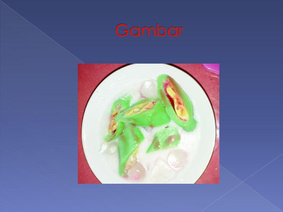 1) Campurkan tepung beras, garam, air, air daun suji, dan pewarna hijau, aduk rata.