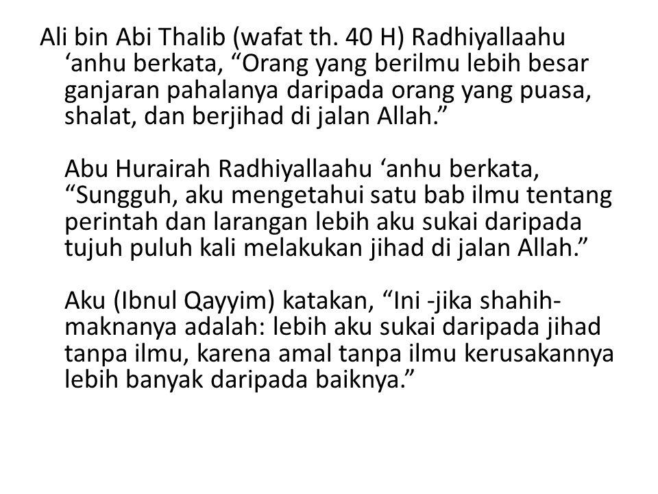 Ali bin Abi Thalib (wafat th.