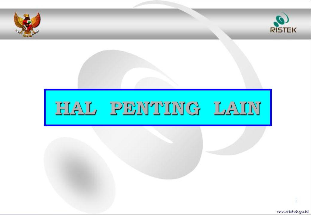 HAL PENTING LAIN
