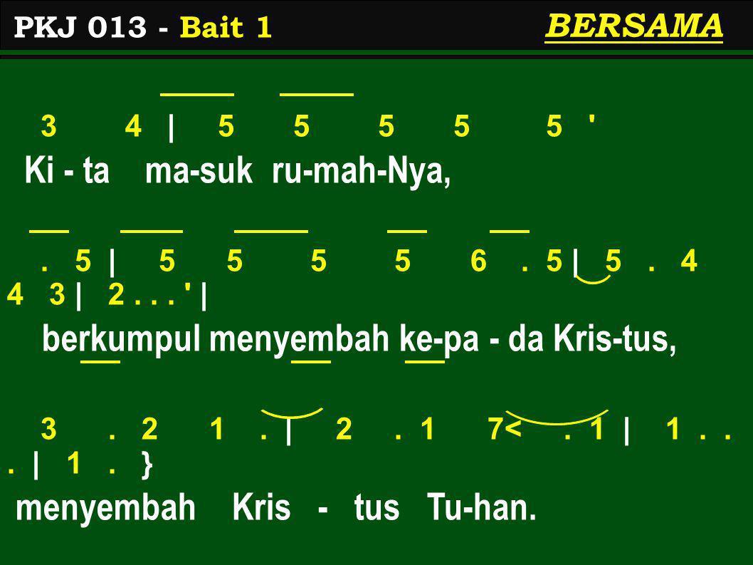 1 2 | 3 3 3 3 3 Lu- pa- kan- lah di - ri - mu,.3 | 3 3 3 3 4.