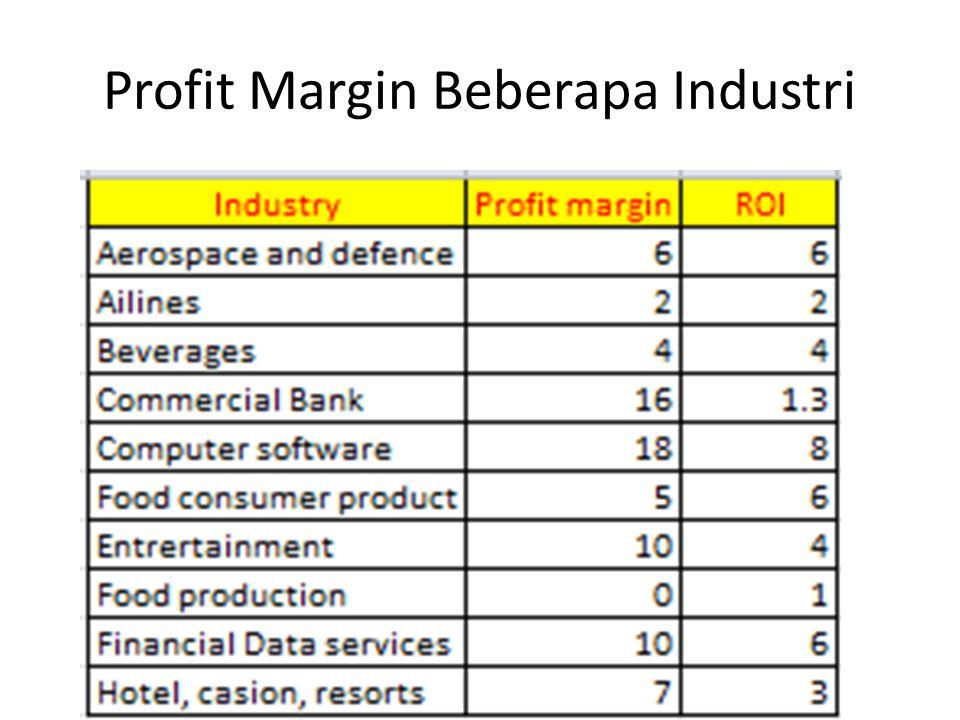 Profit Margin Beberapa Industri