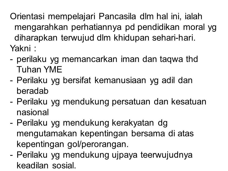 Dlm perkembangannya, istilah Pancasila muncul kembali pada masa menjelang kemerdekaan bangsa Indonesia.