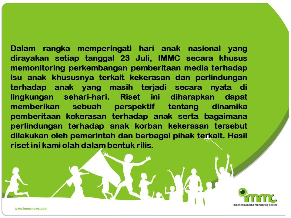 Metodologi Penelitian menggunakan metode purposive sampling pada 4 media online terkemuka,yakni: Kompas.com, Rakyat Merdeka Online, Antaranews.com, dan Detik.com.