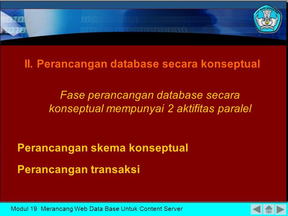 Modul 19 Merancang Web Data Base Untuk Content Server Aktifitas-aktifitas pengumpulan data dan analisa I.