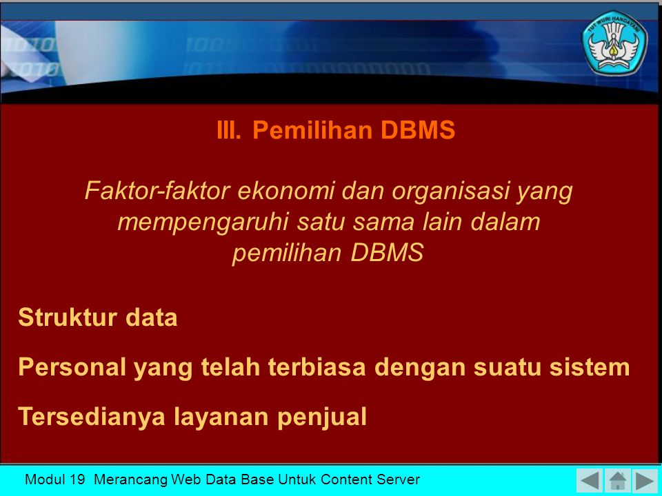Modul 19 Merancang Web Data Base Untuk Content Server Fase perancangan database secara konseptual mempunyai 2 aktifitas paralel II.