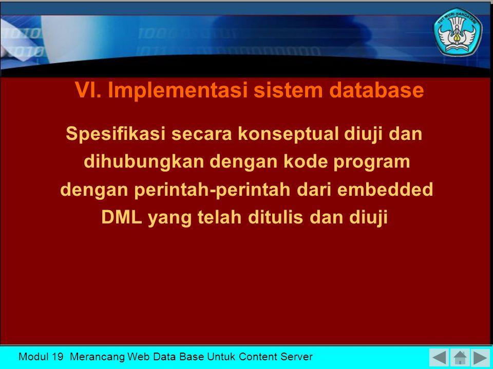 Modul 19 Merancang Web Data Base Untuk Content Server V.