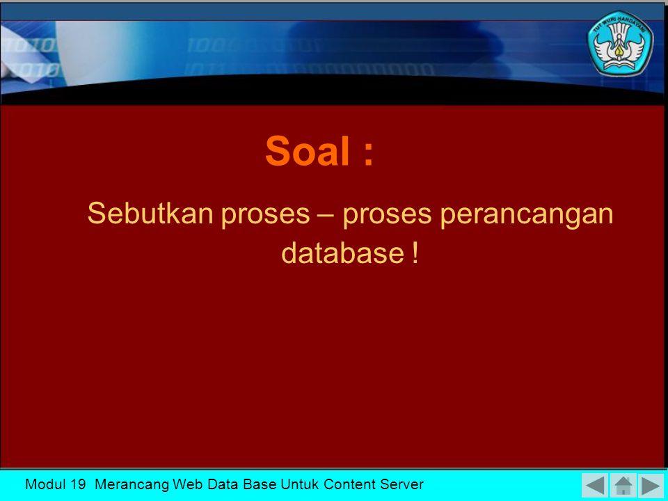 Modul 19 Merancang Web Data Base Untuk Content Server VI.