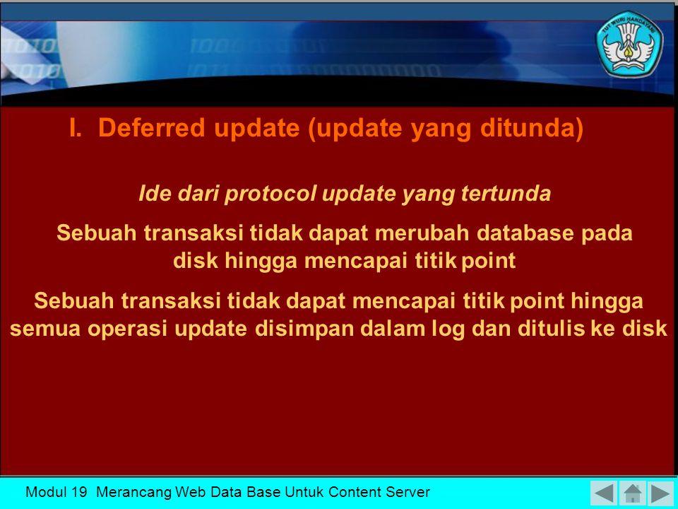Modul 19 Merancang Web Data Base Untuk Content Server Teknik Utama Dalam Recovery I.