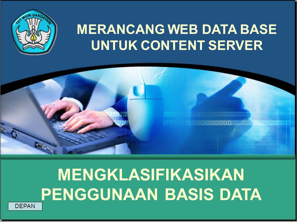 Modul 19 Merancang Web Data Base Untuk Content Server Soal : Ada 3 tingkat dalam arsitektur basis data yang bertujuan membedakan cara pandang pemakai terhadap basis data dan cara pembuatan basis data secara fisik.