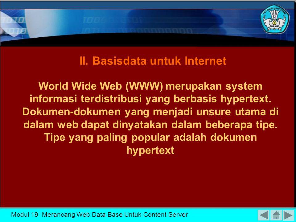 Modul 19 Merancang Web Data Base Untuk Content Server I.