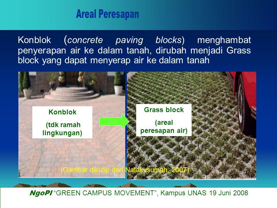 Parit resapan dapat dibuat pada areal pertanian (sawah maupun tegalan) dan areal pekarangan.