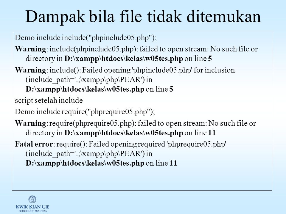 Membuat & menghapus file Untuk membuat file kosong, php menyediakan fungsi touch().