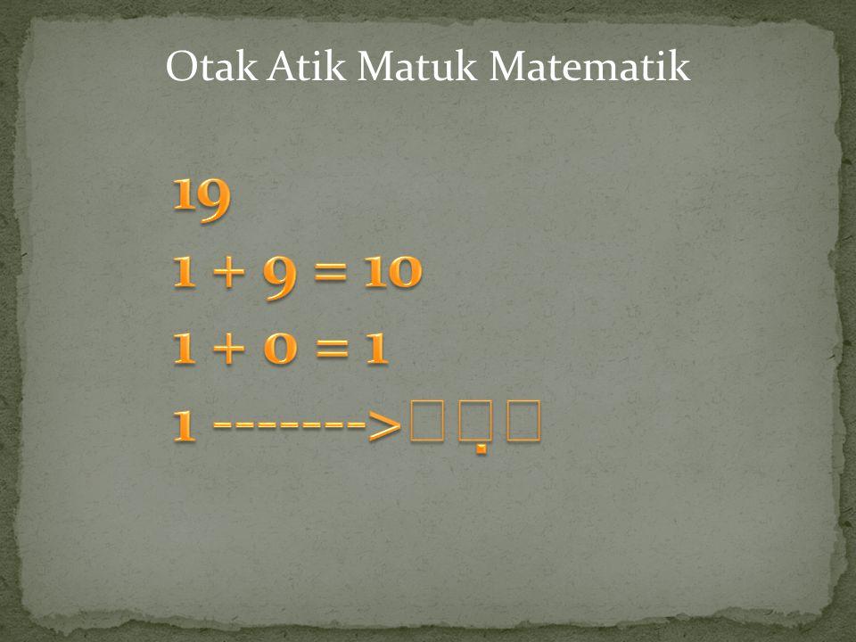 Otak Atik Matuk Matematik