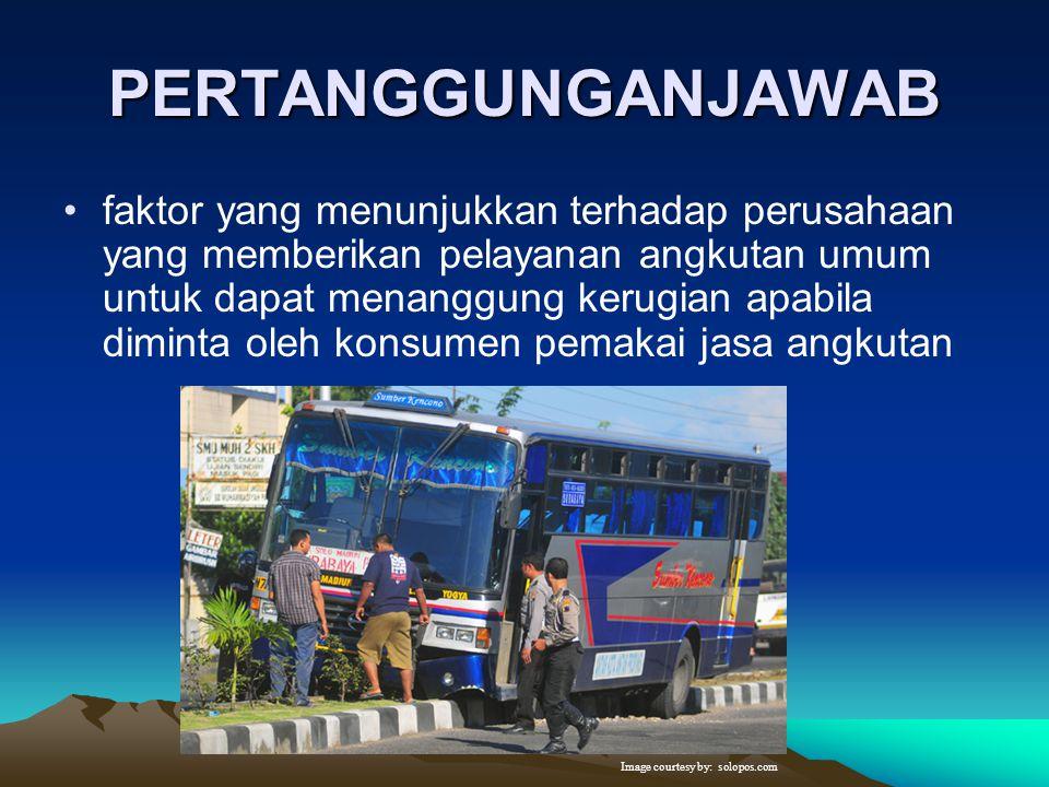 KETERPADUAN  Yaitu menunjukkan pada keterpaduan terhadap suatu moda pelayanan jasa transportasi yang lain dalam suatu sistem pelayanan jasa transport