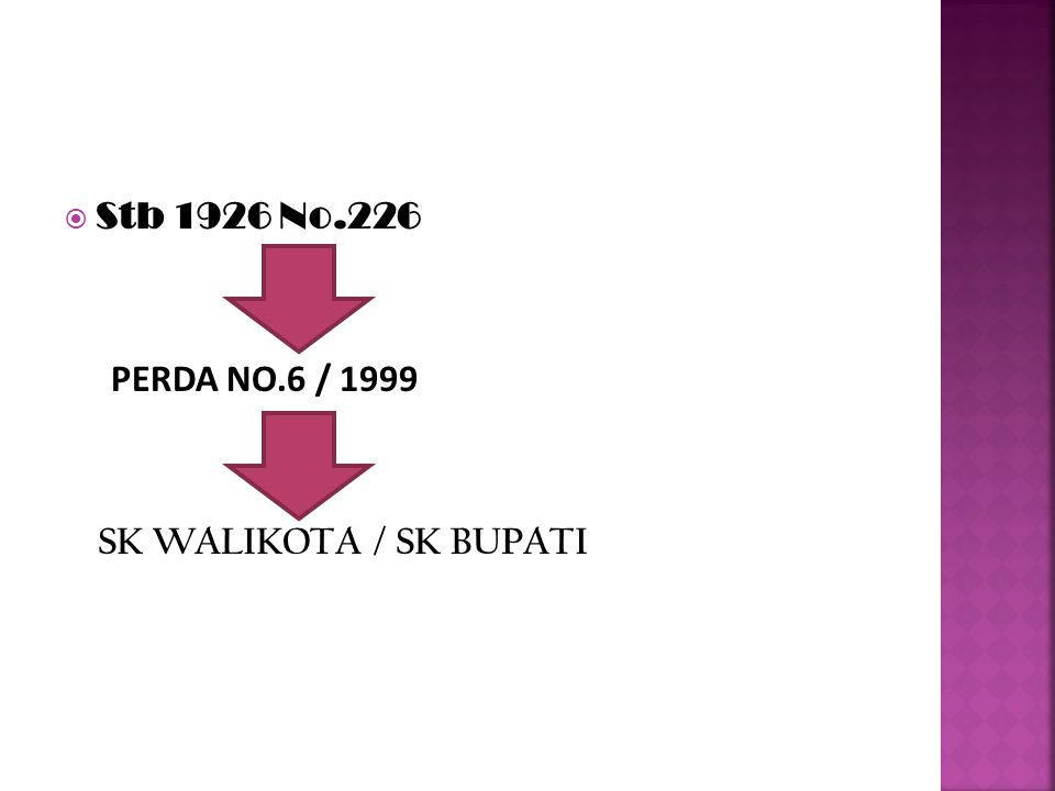 SURABAYA SK WALIKOTA a> No.11 / 2001,tgl 19-4-2001 b> No.31 / 2003, tgl 23-6-2003 c> No.01 / 2004