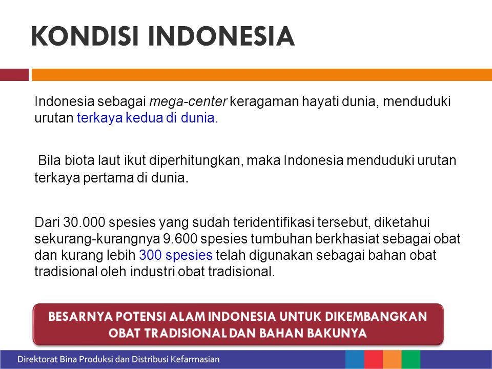 Pasar Jamu (data GP Jamu 2012) Pasar Internasional tahun 2020 : -US $ 150 Milyar ( pasar Indonesia +/- 0.22%) Belum termasuk obat tradisional lainnya menunjukan besarnya potensi pasar obat tradisional