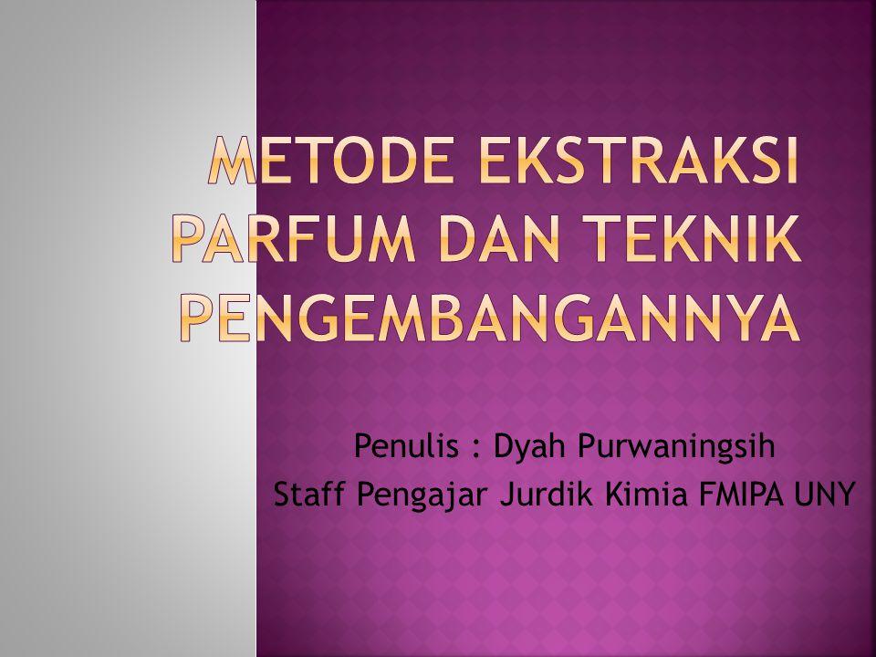 Penulis : Dyah Purwaningsih Staff Pengajar Jurdik Kimia FMIPA UNY