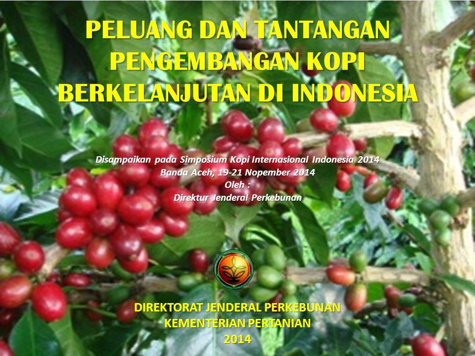 Keamanan Pangan Standar Mutu Kepastian Produksi Kopi secara Berkelanjutan Keamanan Lingkungan Rasional Sustainable Coffee Production Penerapan pembatasan Maximum Residu Limits (MRLs) Undang-Undang Nomor 18/2004 tentang Perkebunan Pembangunan perkebunan dilaksanakan dengan azas berkelanjutan UUD 1945 Pasal 33 UUD 1945 Pasal 33 Penerapan GAP Kopi Penerapan GAP Kopi Perlunya standar nasional (ISCoffee) TUNTUTAN PENGEMBANGAN KOPI SAAT INI 12 Direktorat Jenderal Perkebunan, Kementerian Pertanian