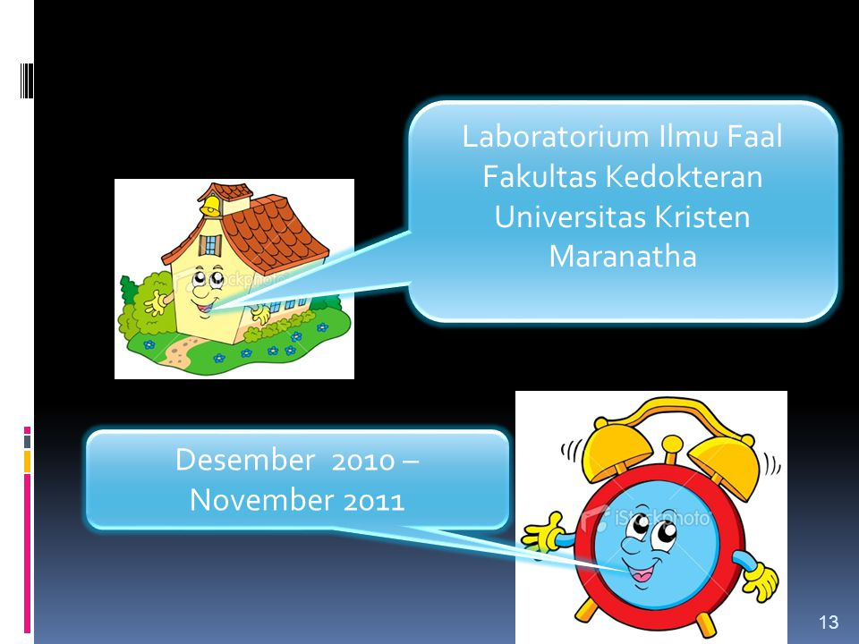 LOKASI DAN WAKTU PENELITIAN Laboratorium Ilmu Faal Fakultas Kedokteran Universitas Kristen Maranatha Desember 2010 – November 2011 13