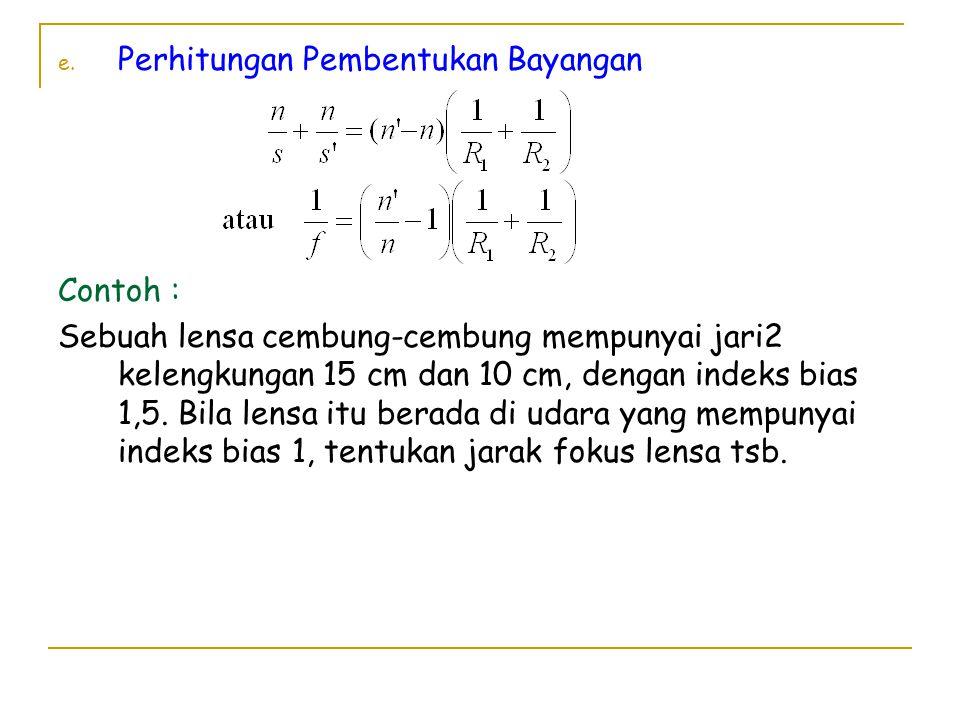 e.Lensa Gabungan f.