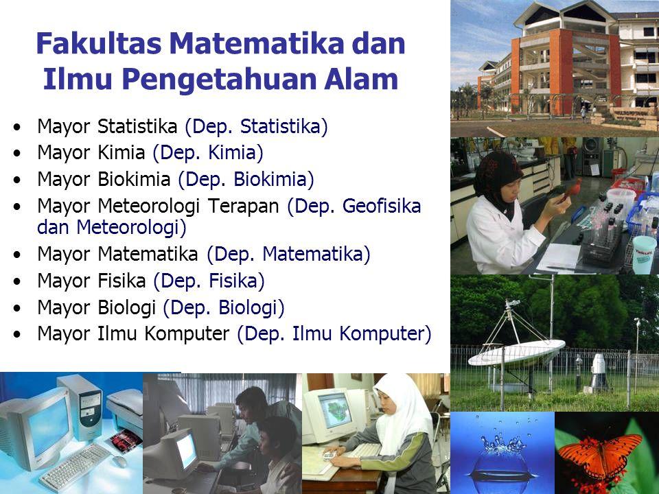 Fakultas Matematika dan Ilmu Pengetahuan Alam Mayor Statistika (Dep.