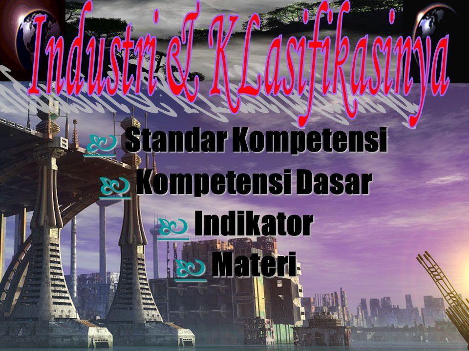 Standar Kompetensi Standar Kompetensi Kompetensi Dasar Kompetensi Dasar Indikator Indikator Materi Materi