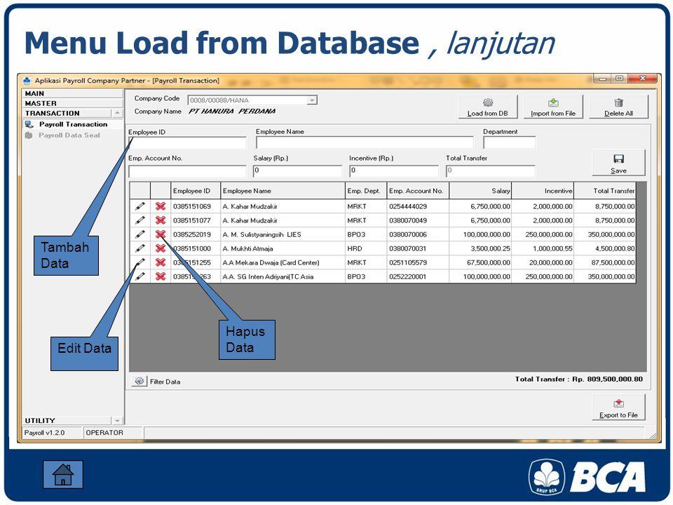 Edit Data Hapus Data Tambah Data