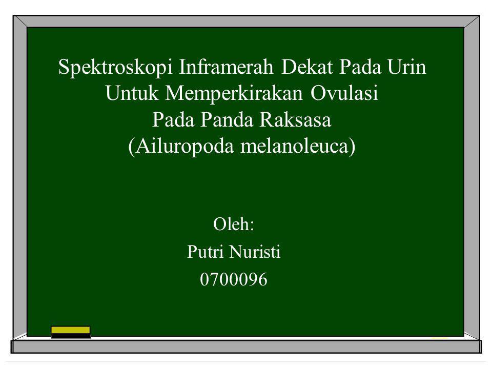 Spektroskopi Inframerah Dekat Pada Urin Untuk Memperkirakan Ovulasi Pada Panda Raksasa (Ailuropoda melanoleuca) Oleh: Putri Nuristi 0700096