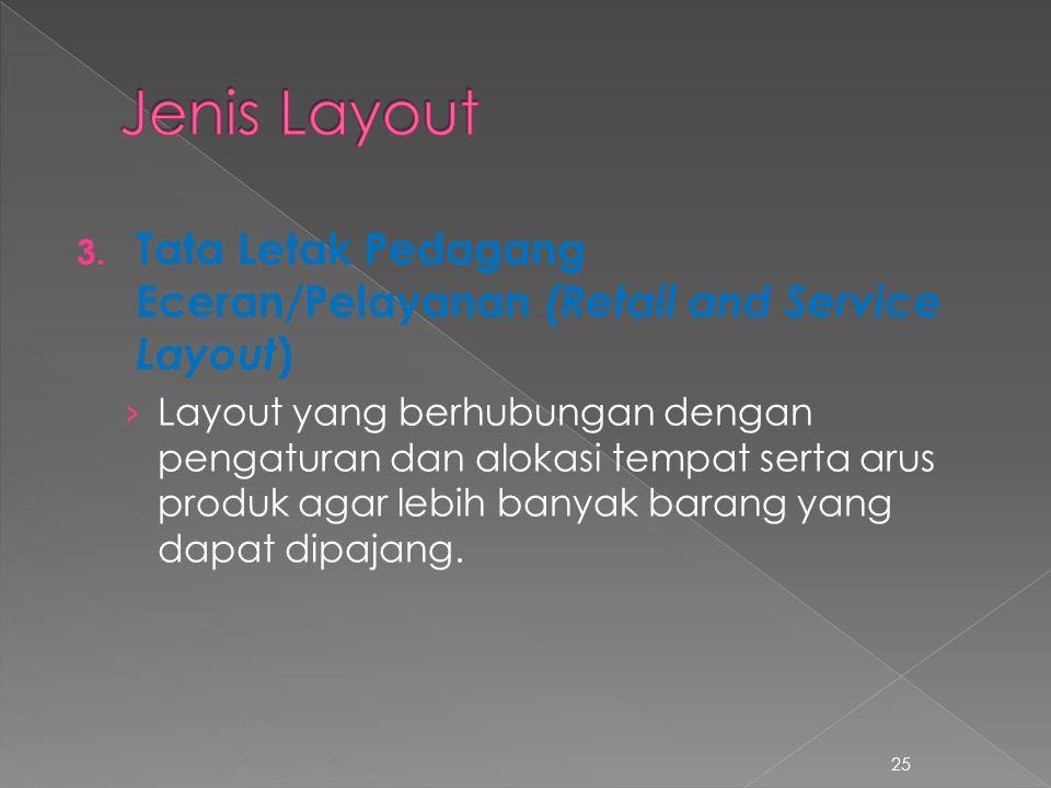 3. Tata Letak Pedagang Eceran/Pelayanan (Retail and Service Layout ) › Layout yang berhubungan dengan pengaturan dan alokasi tempat serta arus produk