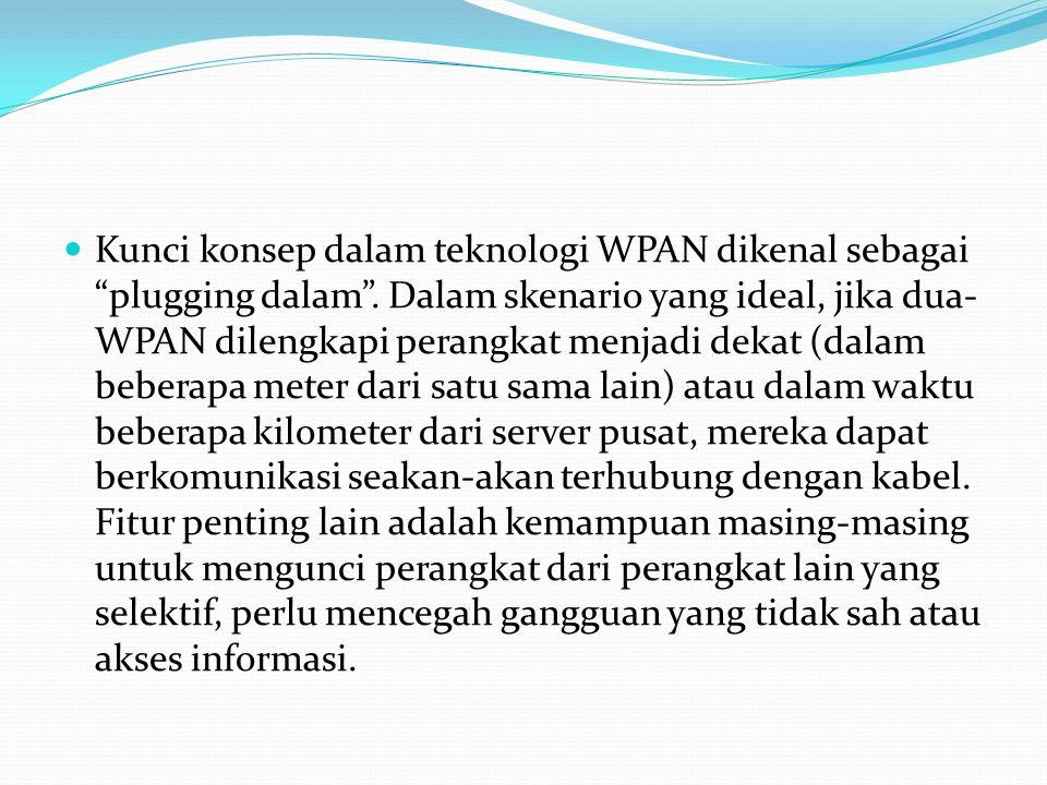 Kunci konsep dalam teknologi WPAN dikenal sebagai plugging dalam .