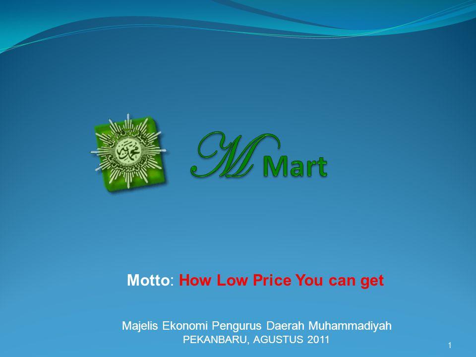 1 Motto: How Low Price You can get Majelis Ekonomi Pengurus Daerah Muhammadiyah PEKANBARU, AGUSTUS 2011