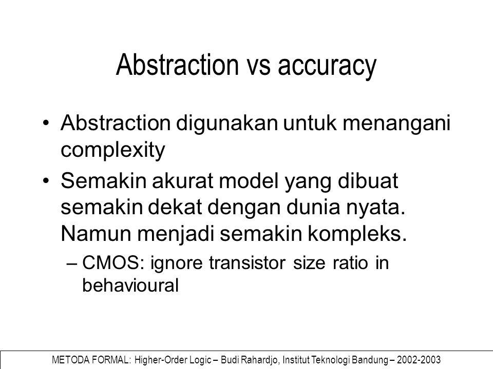METODA FORMAL: Higher-Order Logic – Budi Rahardjo, Institut Teknologi Bandung – 2002-2003 sd g