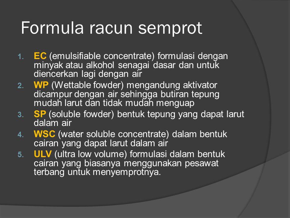 Formula racun semprot 1.