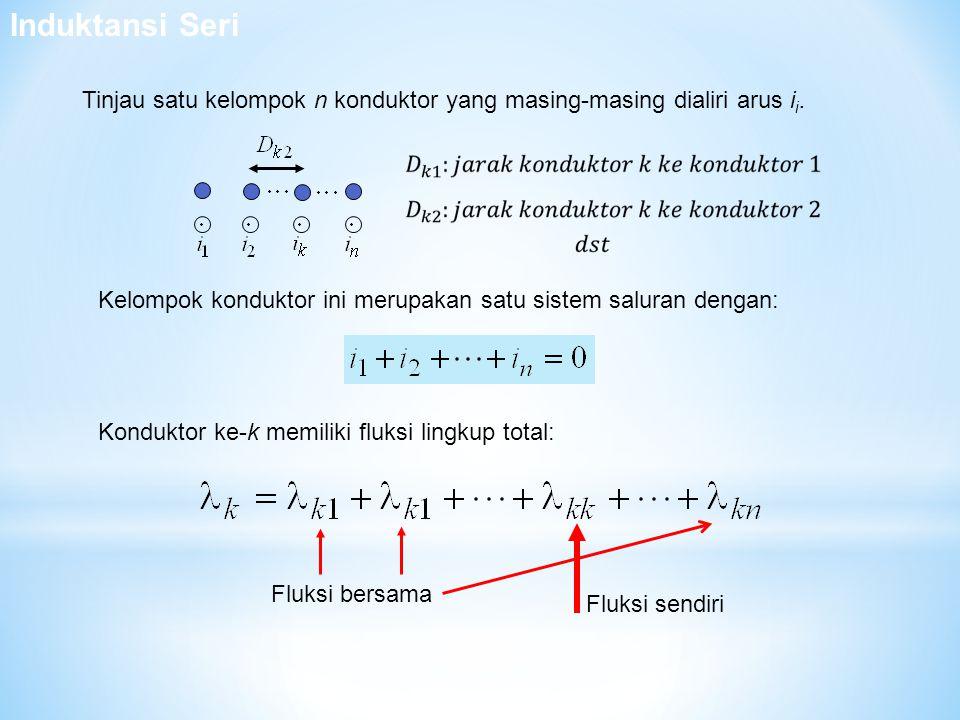 Tinjau satu kelompok n konduktor yang masing-masing dialiri arus i i. Kelompok konduktor ini merupakan satu sistem saluran dengan: Konduktor ke-k memi