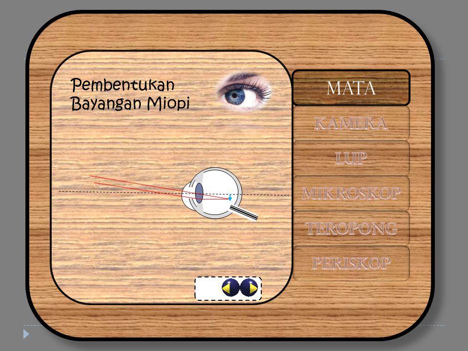 Pembentukan Bayangan Miopi MATA