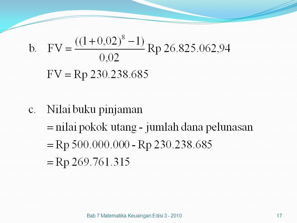 Bab 7 Matematika Keuangan Edisi 3 - 201017