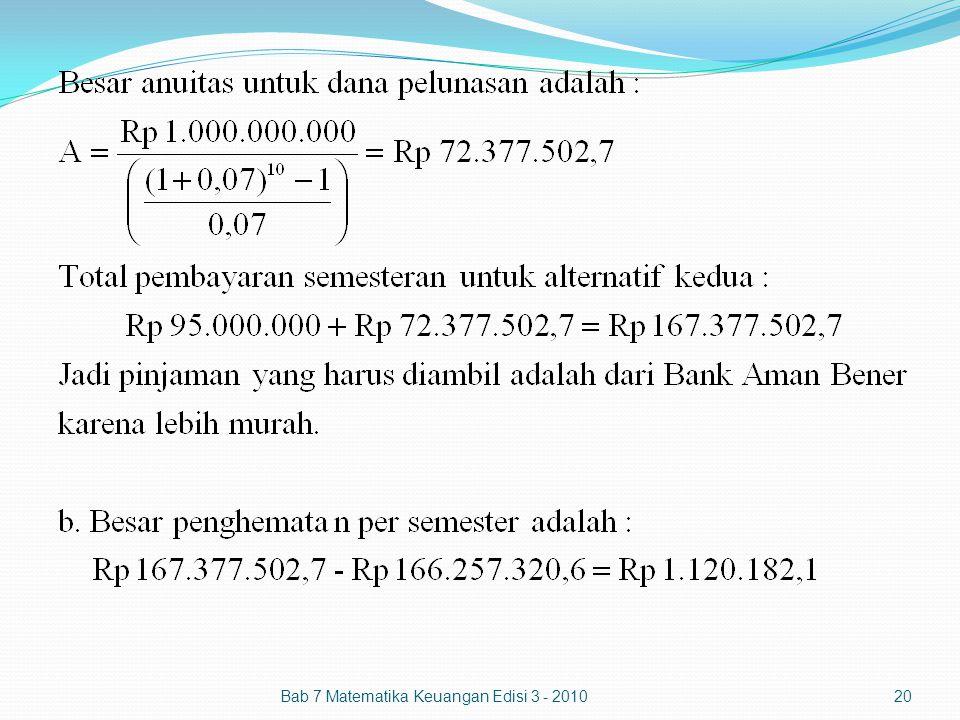 Bab 7 Matematika Keuangan Edisi 3 - 201020