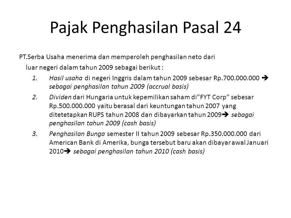 Pajak Penghasilan Pasal 24 5.