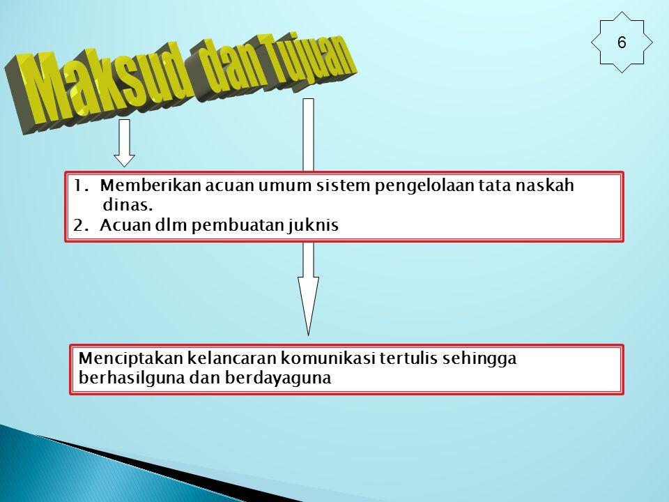  Memperoleh kesamaan pengertian, bahasa, penafsiran di lingkungan PemerinTAH Provinsi Banten.