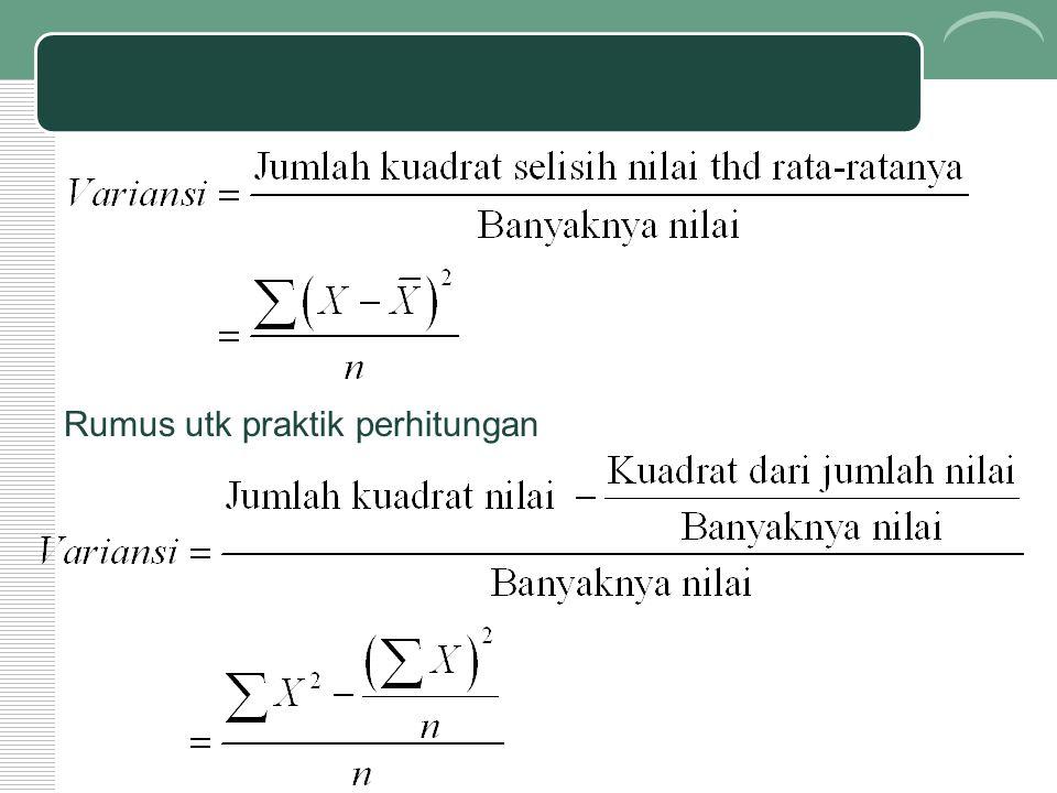Rumus utk praktik perhitungan