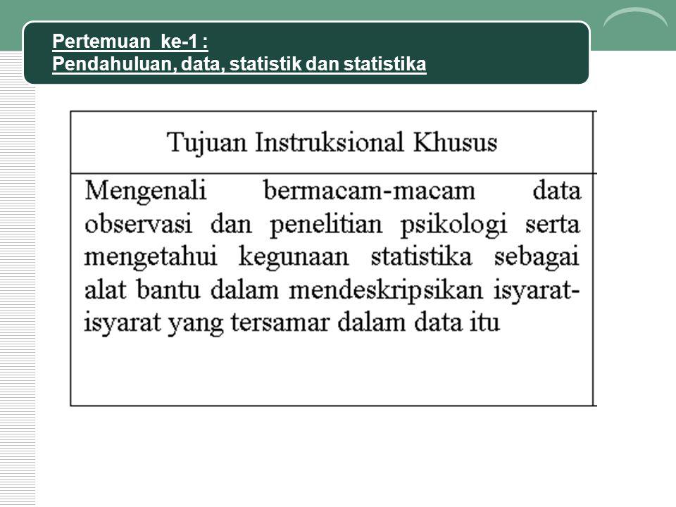 MENGATUR DATA NUMERIK (KUANTITATIF) Macam data menentukan macam analisis statistika yang dipakai.