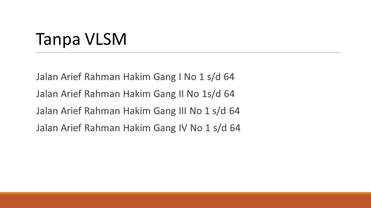 Jalan Arief Rahman Hakim Gang I No 1 s/d 64 Jalan Arief Rahman Hakim Gang II No 1s/d 64 Jalan Arief Rahman Hakim Gang III No 1 s/d 64 Jalan Arief Rahm