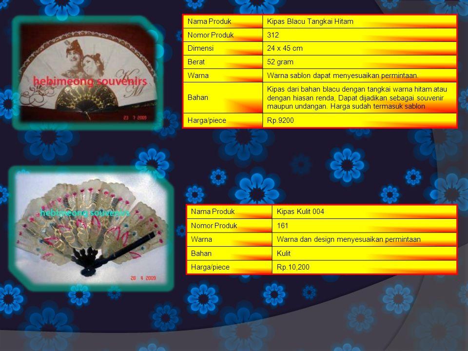 Nama ProdukKipas Blacu Tangkai Hitam Nomor Produk312 Dimensi24 x 45 cm Berat52 gram WarnaWarna sablon dapat menyesuaikan permintaan. Bahan Kipas dari