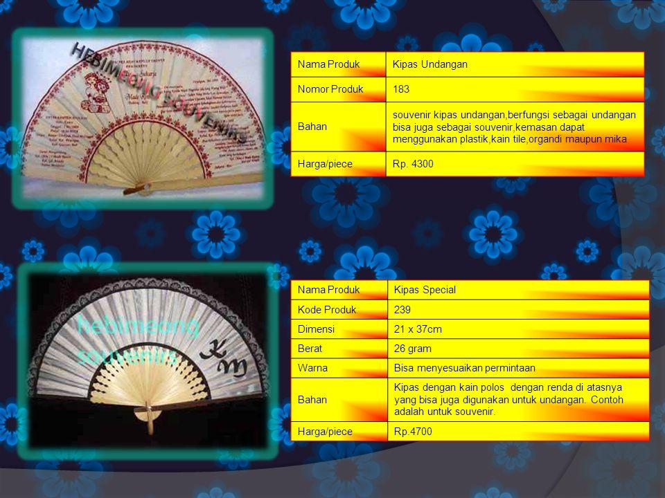 Nama ProdukKipas Undangan Nomor Produk183 Bahan souvenir kipas undangan,berfungsi sebagai undangan bisa juga sebagai souvenir,kemasan dapat menggunaka