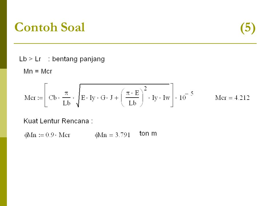 Contoh Soal (5)