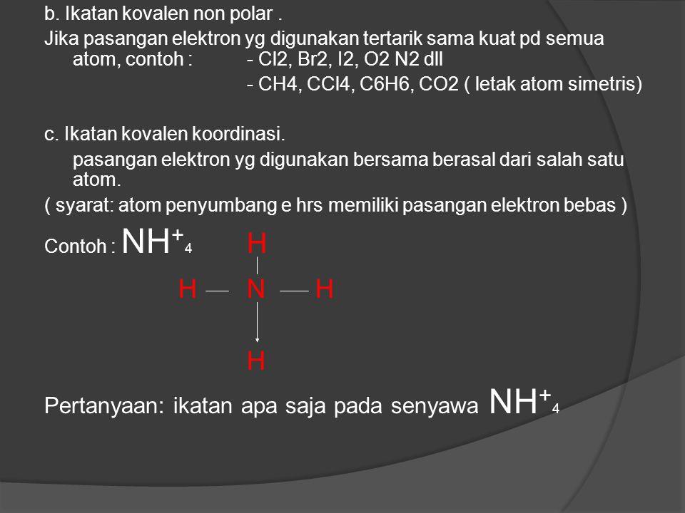 Ikatan kovalen rangkap dua pada senyawa CO 2 dan rangkap tiga pada senyawa C 2 H 2 Momen dipol dan sebaran muatan parsial negatif yang ditunjukkan ara