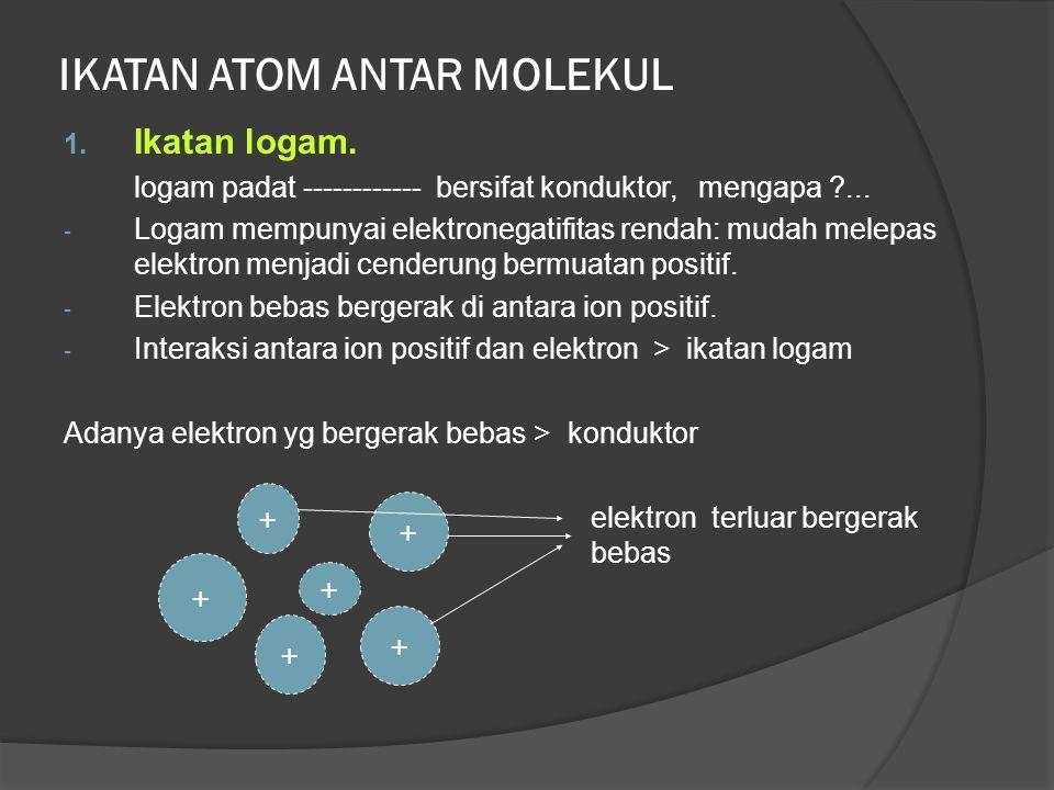 Bentuk Molekul 1. BeCl 2 4 Be : elektron valensi 2 ( 1S 2 2S 2 ) 17 Cl : el. Valensi 7 ( 1S 2 2S 2 2P 6 3S 2 3P 5 ) Cl – Be – Cl ada 2 pasangan elektr