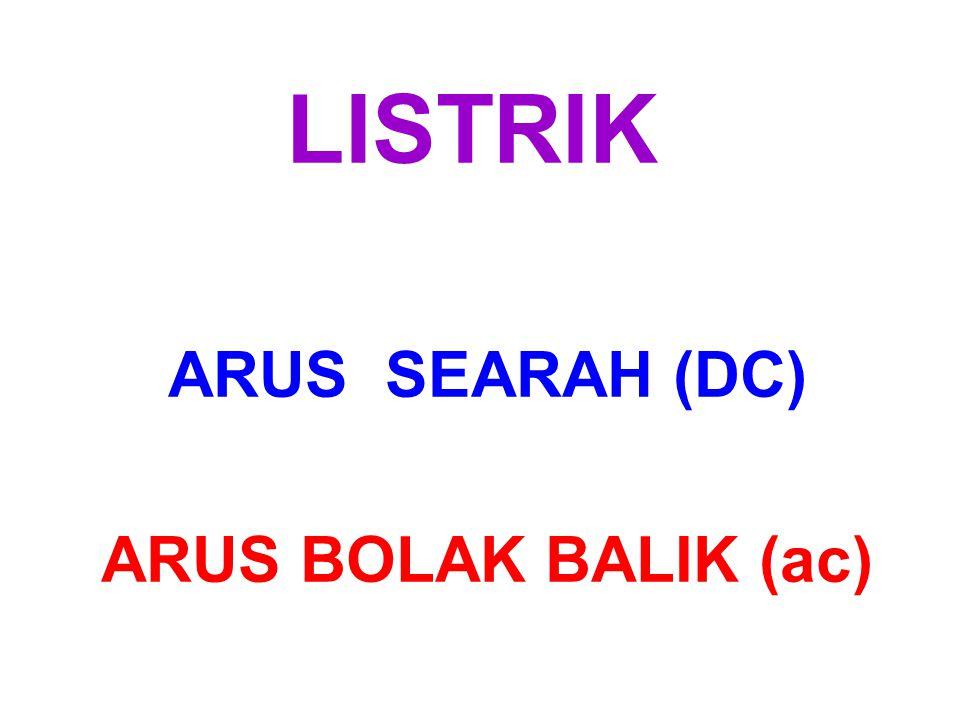 LISTRIK ARUS SEARAH (DC) ARUS BOLAK BALIK (ac)